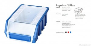 ERGOBOX PLUS 2 NIEBIESKI, 118 x 161 x 75mm