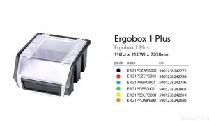 ERGOBOX PLUS 1 CZERWONY, 118 x 112 x 75mm