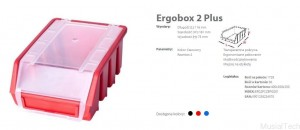 ERGOBOX PLUS 2 CZERWONY, 118 x 161 x 75mm